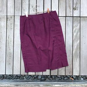 WHITE HOUSE BLACK MARKET Zip Up Pencil Skirt